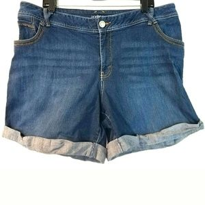Lane Bryant Shorts - 20 Lane Bryant Cuffed Denim Shorts - Jean Shorts